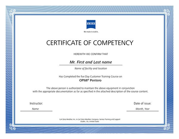 what is certificate of competency