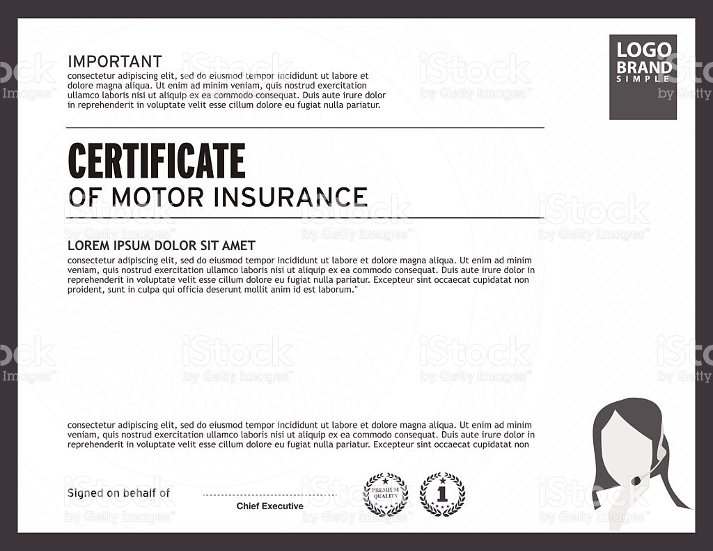 Certificate Of Insurance Certificate Of