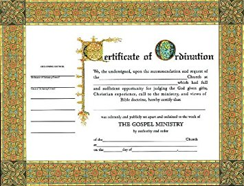 photo about Printable Ordination Certificate named 4+Absolutely free Pattern Printable Certificate of Ordination