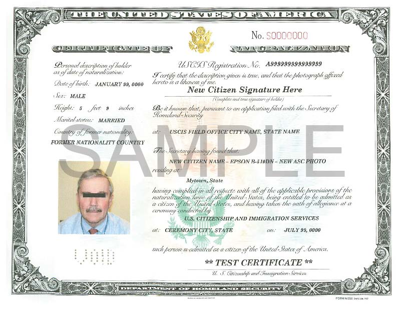 Certificate of Citizenship for Adopted Child