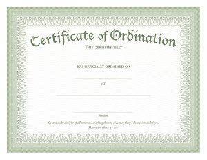 Certificate of Ordination PDF