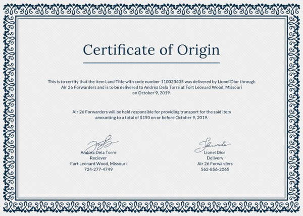 This Is The Type Of Certificate, Which Helps In Verification Of Goods In  Expert And Import Business Between Countries. The Certificate Of Origin  Provide By ...