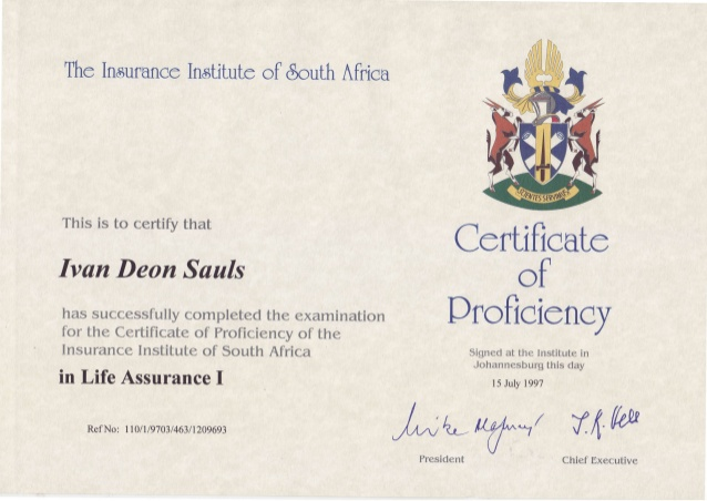 Certificate of Proficiency in Insurance