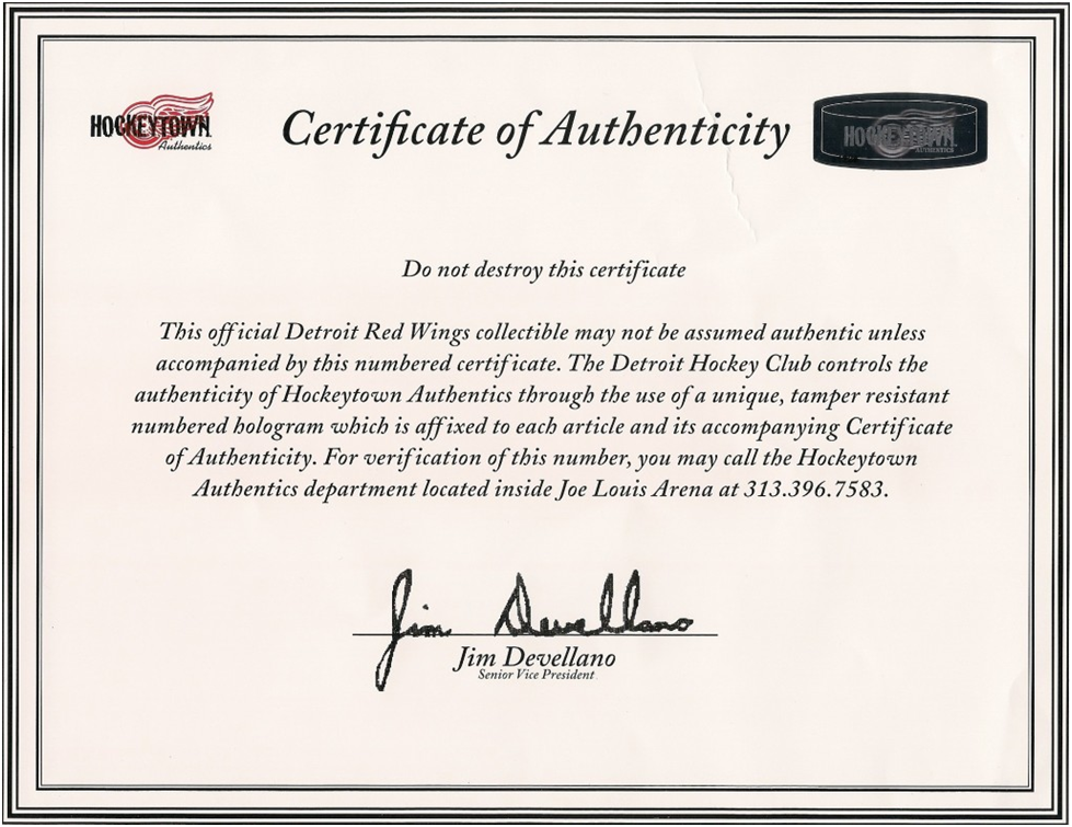 Certificate Of Authenticity Certificate Of