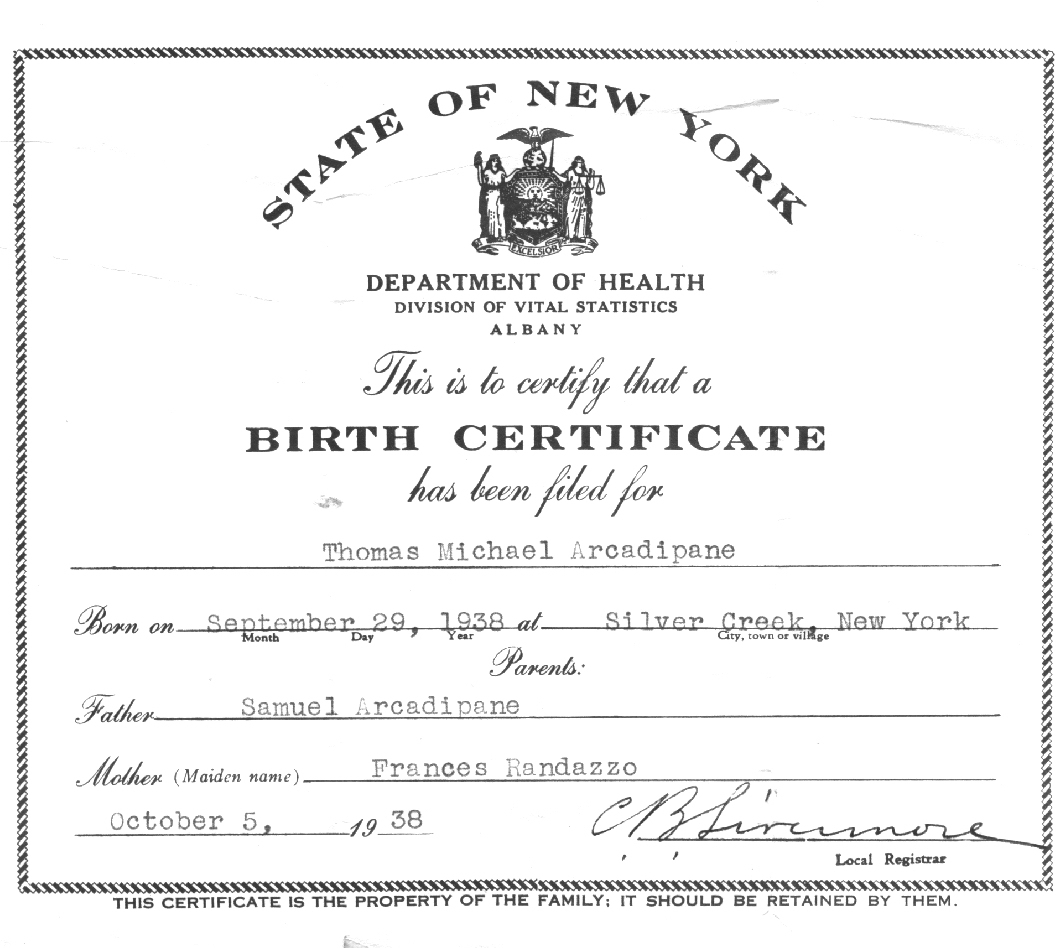 Certificate Of Birth Sample