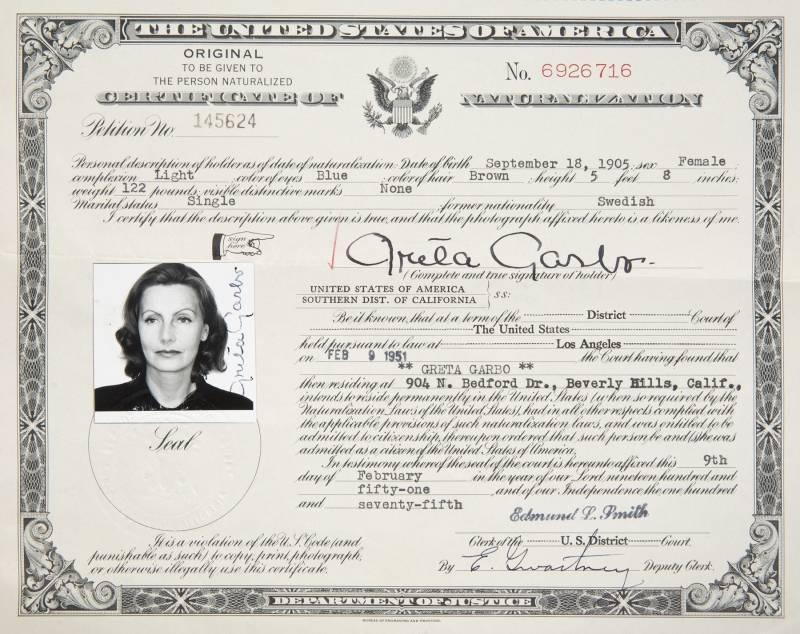 Certificate of naturalization | Certificate Of