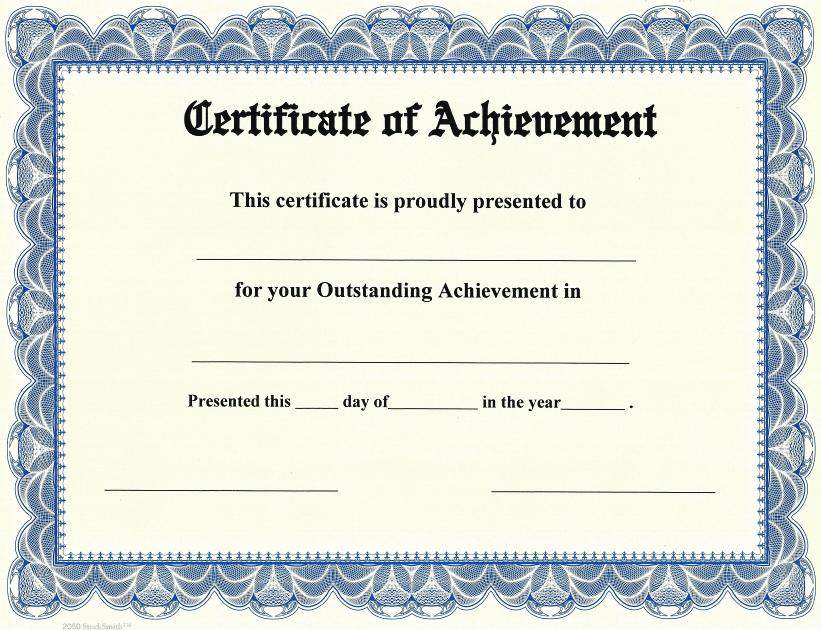 Free Printable Certificate of Achievement