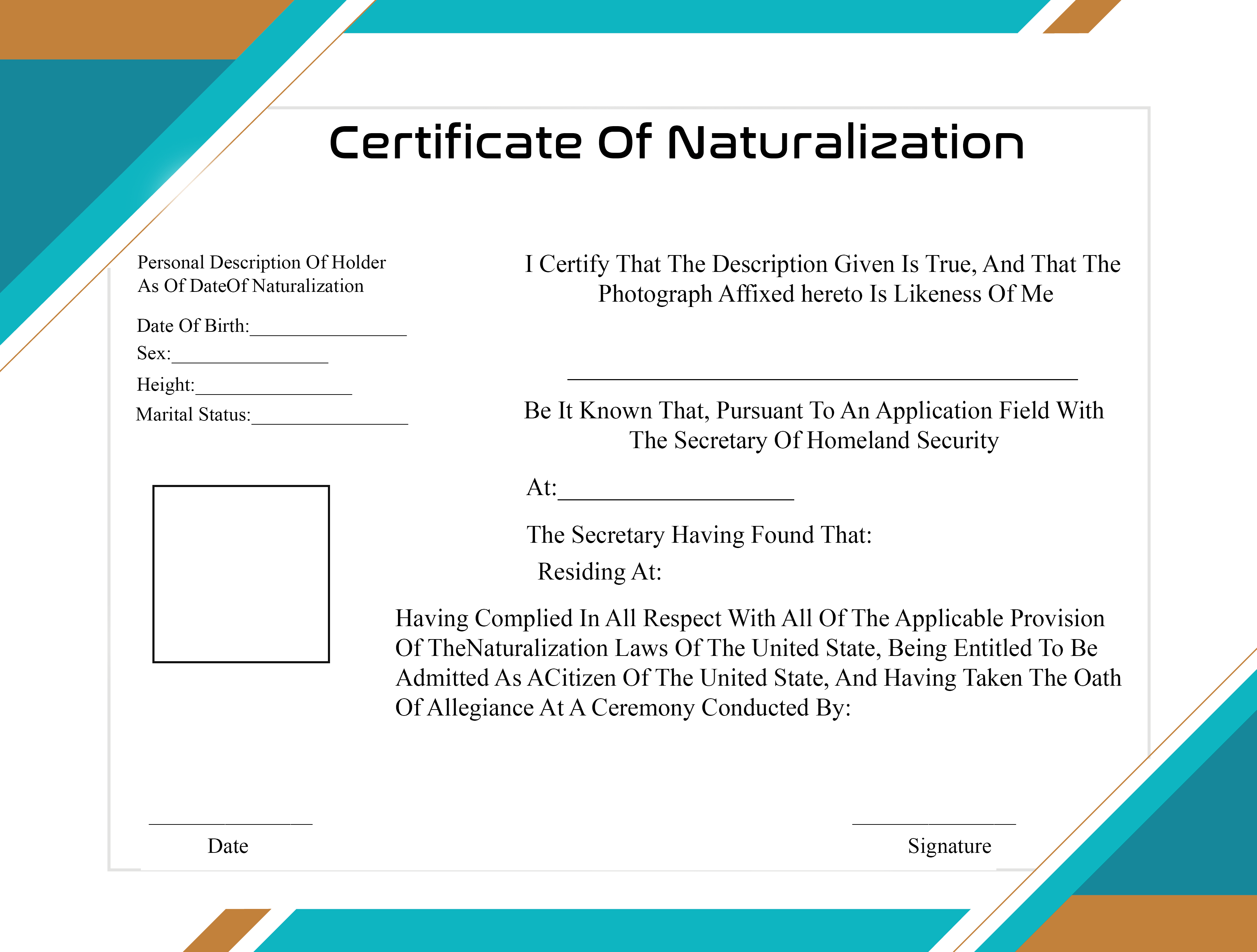 Naturalization Certificates Meaning