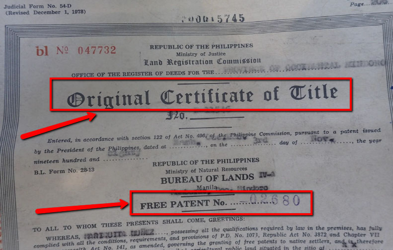 Certificate of Title Property