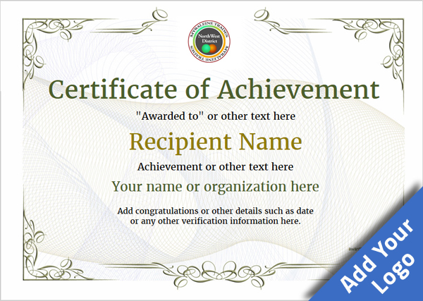 Sample Certificate of Achievement Wording