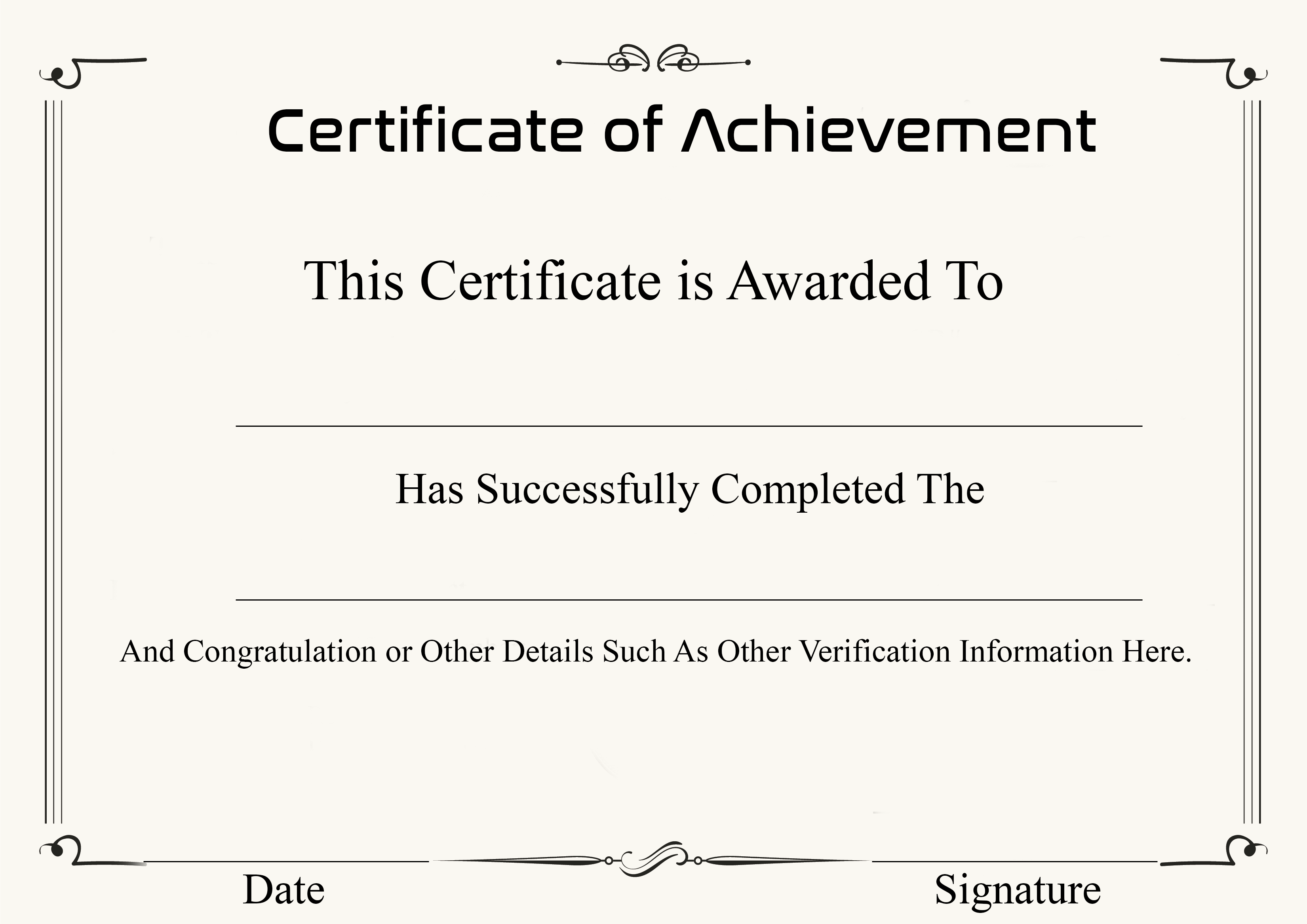 It is a picture of Free Printable Certificate of Achievement with regard to school