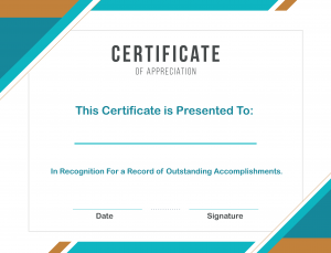 Free Printable Certificate of Appreciation Template Word