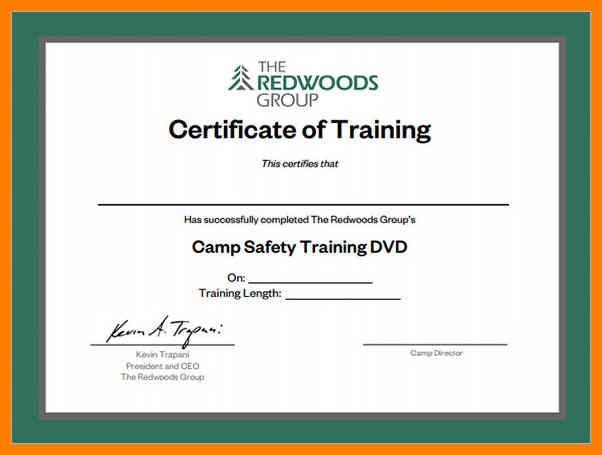 What is Certificate of Training