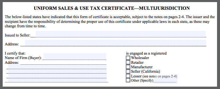What is Certificate of Resale