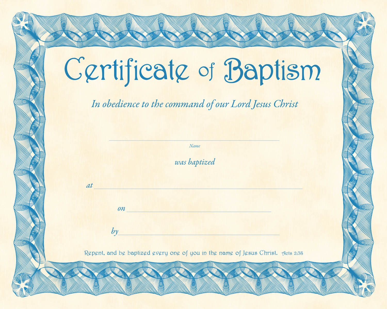 Certificate of Baptism PDF