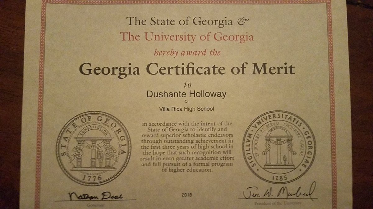 Georgia Certificate of Merit
