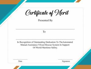 Certificate of Merit Piano