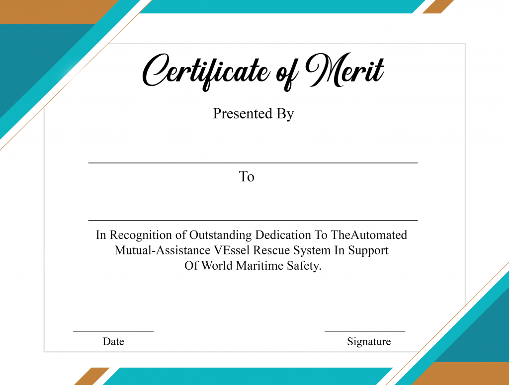 Certificate of Merit Piano