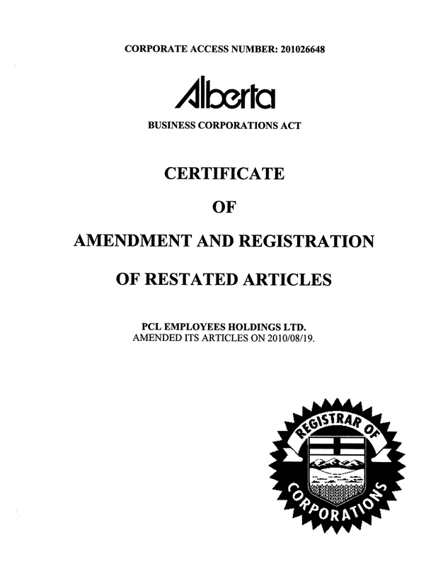 Certificate Of Amendment Of Articles Of Incorporation Certificate Of