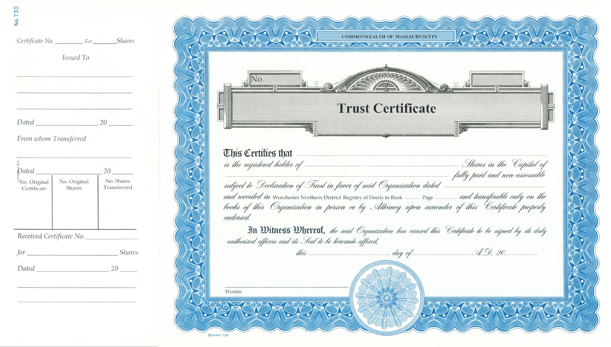 Making A Certificate Of Trust Form Certificate Of