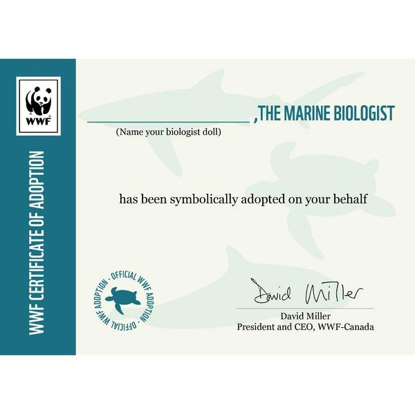 WWF Certificate of Adoption