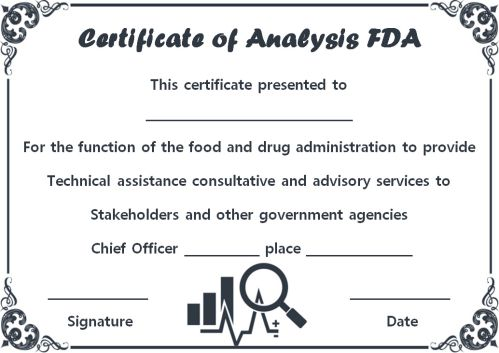 Certificate of Analysis Sample