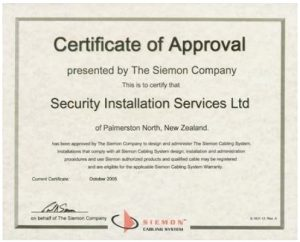 Certificate of Approval NZ