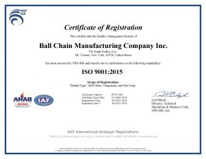 Certificate of Manufacturing