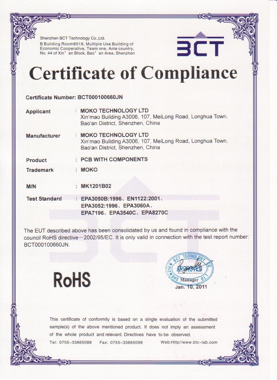 Certificate Of Manufacturing Certificate Of
