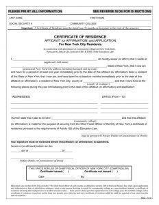 IRS Certificate of Residency
