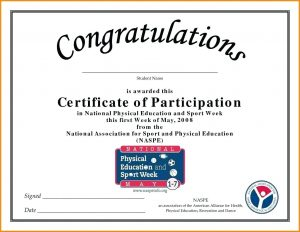 Sample of Certificate of Participation PDF