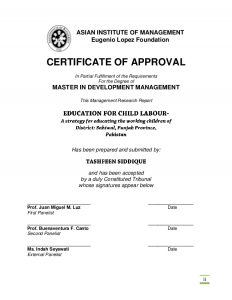 Certificate of Approval Template