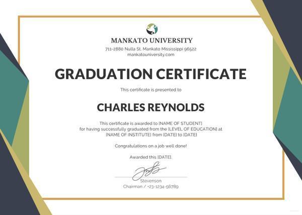 graduation certificate for preschool