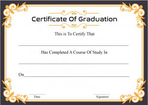 Certificate Of Graduation Sample