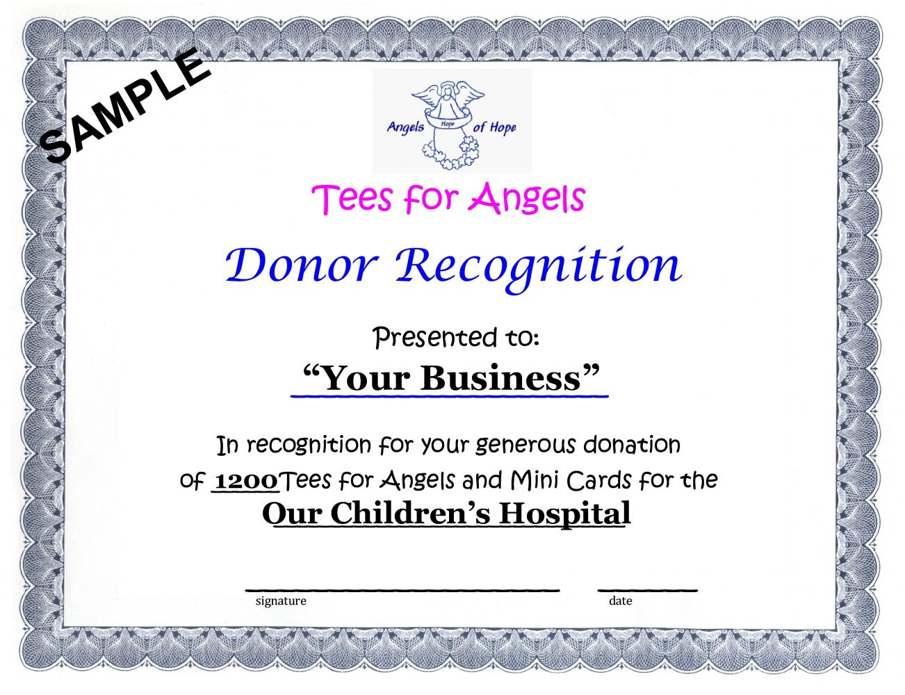 Certificate of Sponsorship Sample