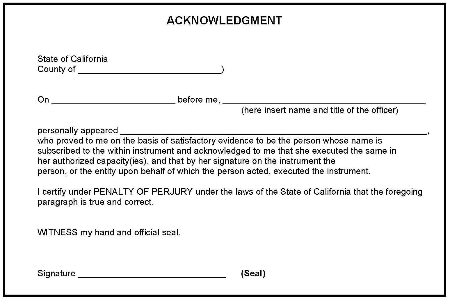 free certificate template of acknowledgement download certificate of