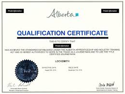 Certificate of Qualification Alberta