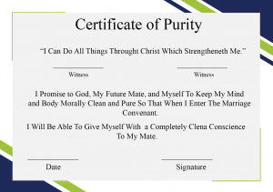 Certificate of Purity Example